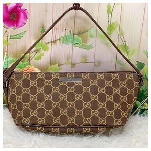Authentic Gucci GG Monogram Pochette Bag